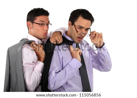 Curious business professionals - stock photo