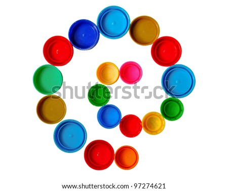 Curl made of bottle cap - stock photo