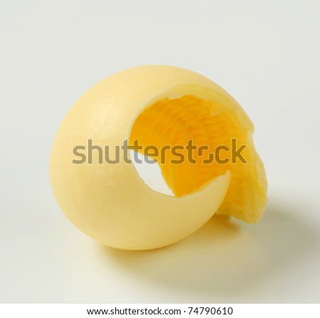 Curl of fresh butter - stock photo
