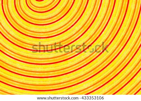 curled bright sun rays painted background - stock photo