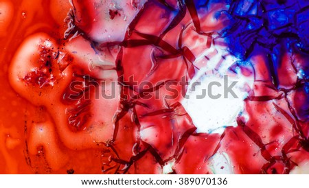 Curlicue of Paints   - stock photo