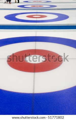 Curling background - stock photo