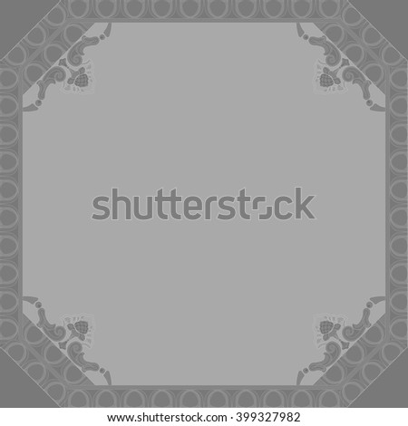 curly frame background for greeting cards , congratulations , decoration , weddings , holidays , invitations , seedling schemes - stock photo
