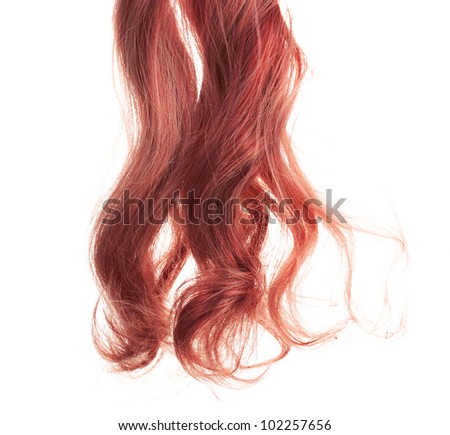 Curly hair isolated on white - stock photo