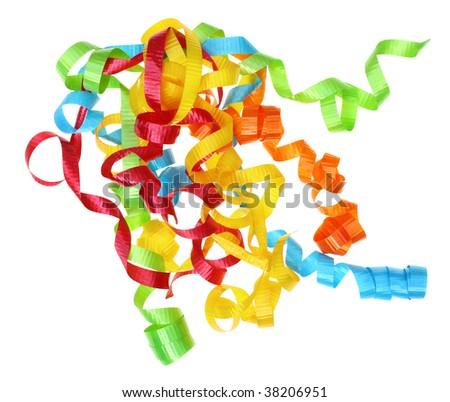 Curly Ribbon Bow - stock photo