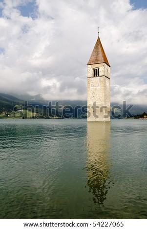 Curon Venosta - Dolomites - stock photo