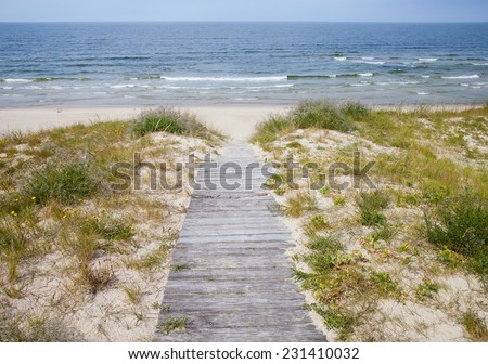 Curonian Spit, Baltic Sea  - stock photo