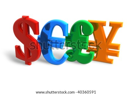 Currencies concept - stock photo