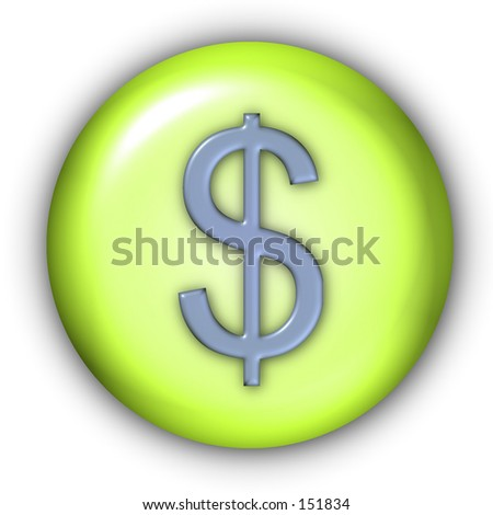 Currency Button - Dollar