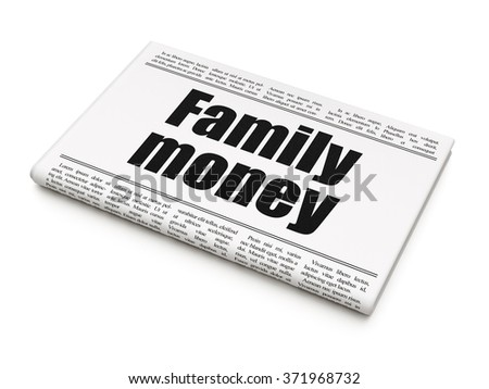 Currency concept: newspaper headline Family Money - stock photo