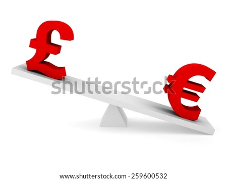 Currency Exchange Rate Concept Pound Above Stock Illustration