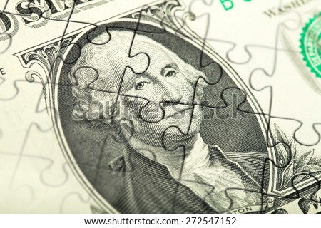Currency, Finance, Puzzle. - stock photo