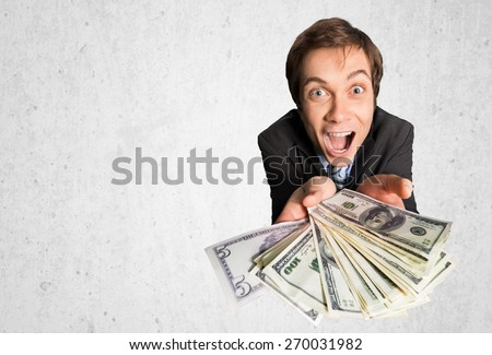 Currency, Greed, Men. - stock photo
