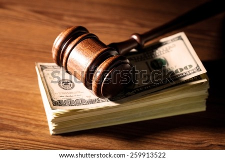 Currency, Law, Divorce. - stock photo