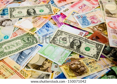 currency paper, banking and finance, money savings - stock photo