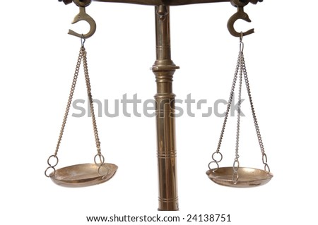 Currency Scales - stock photo