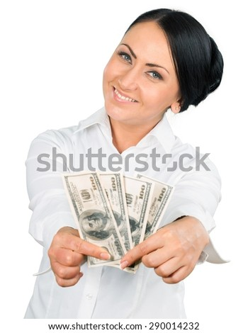 Currency, Women, Holding.
