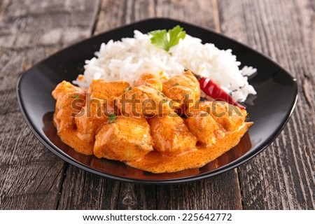 curry chicken - stock photo