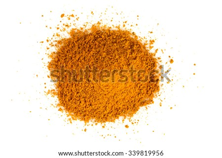 curry powder isolated on white background - stock photo