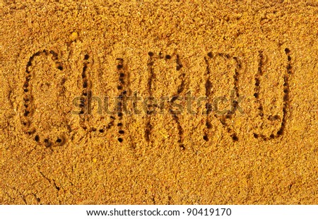 Curry Powder  Mix Surface - stock photo