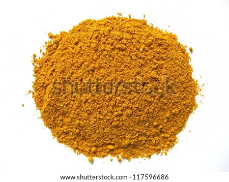 curry powder. mixture of spices and dried herbs - stock photo