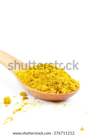 Curry powder wooden spoon