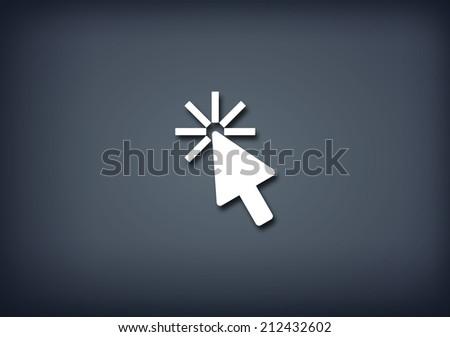 Cursor click icon - stock photo