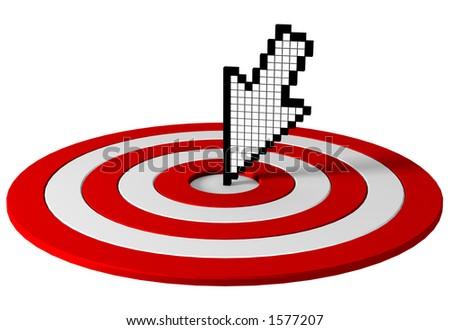 Cursor on target - stock photo