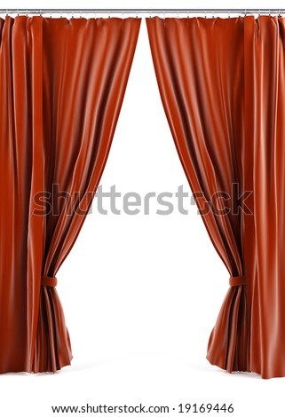 Curtain. - stock photo