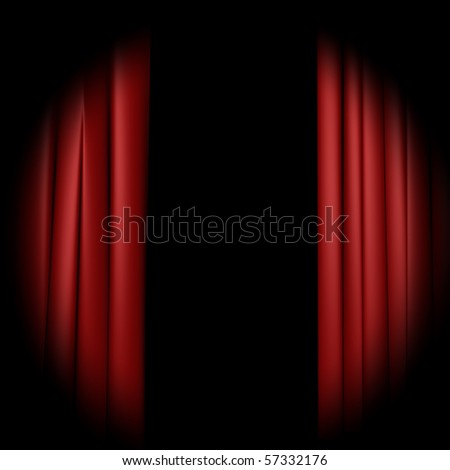 Curtain - stock photo
