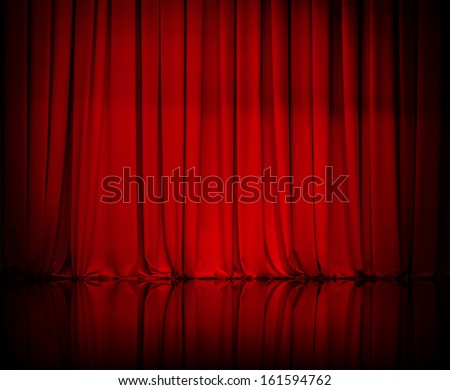 curtain or drapes red background