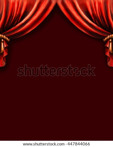 curtain, pattern background Theatre - stock photo