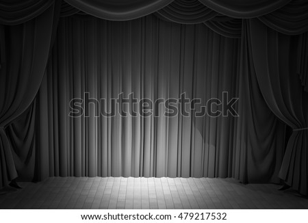 Curtains Ideas black theater curtains : Curtain Drapes Black Background Stock Photo 162071027 - Shutterstock