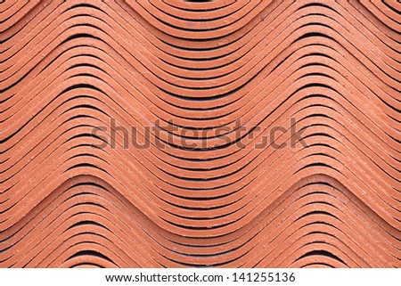 Curvature of the roof tiles for Construction background texture - stock photo