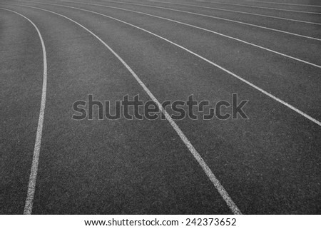 Curve of a Red Running Track,background