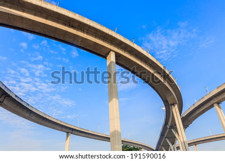 Curve of High way bridge