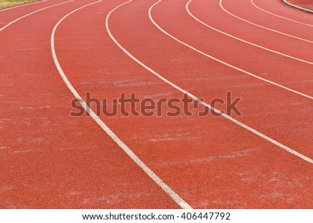 curve of running track
