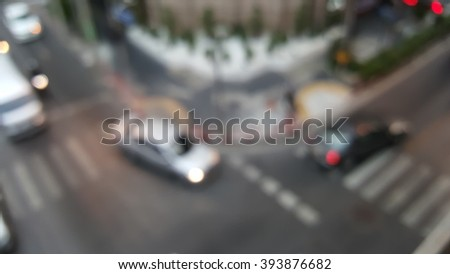curve road in city : blurs abstract background - stock photo