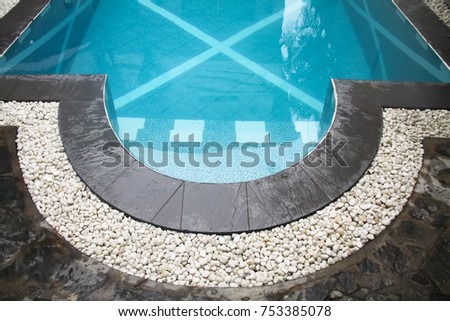 Beautiful Curve Swimming Pool Gutter White Gravels Stock Photo (Royalty Free)  753385078   Shutterstock