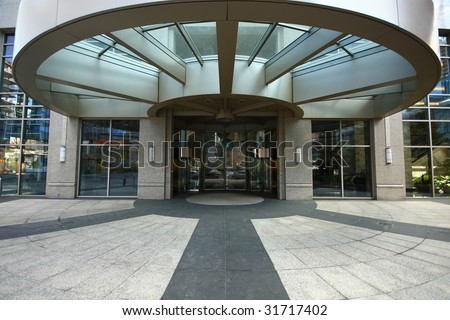 curved doorway - stock photo