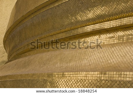 Curved golden surface