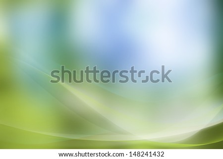 Curved lines blue green abstract background - stock photo