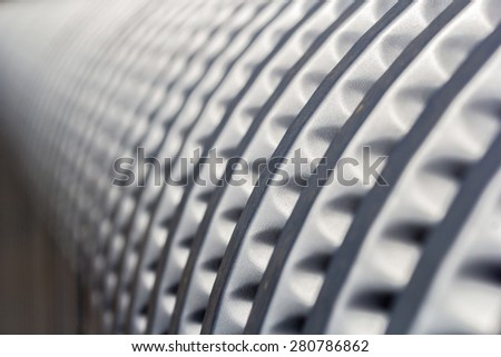 Curved metal shape