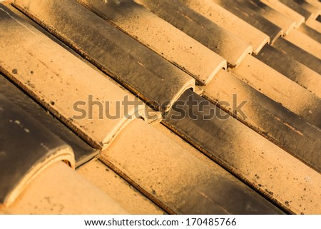 Curved Spanish Roof Tiles