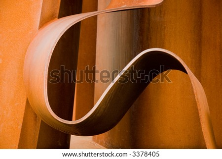 Curved steel - stock photo