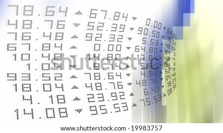 Curved Stocks and Shares - stock photo