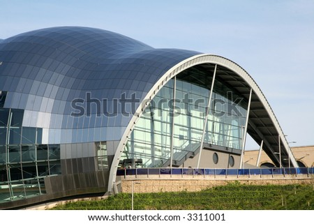 Curves of the Sage Opera House - stock photo