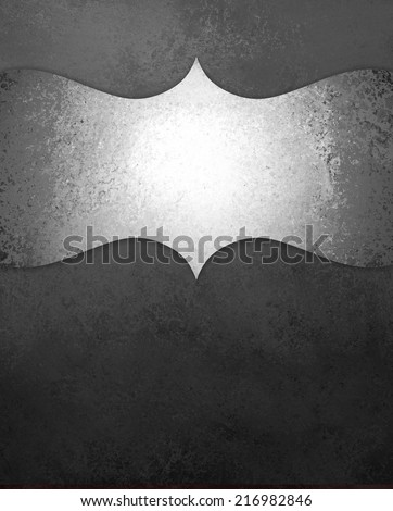 curving silver ornamental design element on black chalkboard background, blank copyspace for text, elegant formal background with vintage texture, luxury background - stock photo
