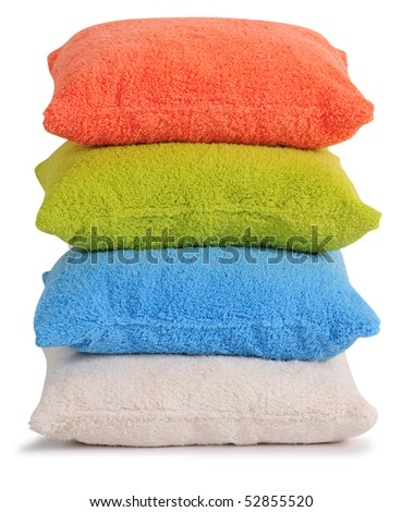 Cushion. Isolated - stock photo