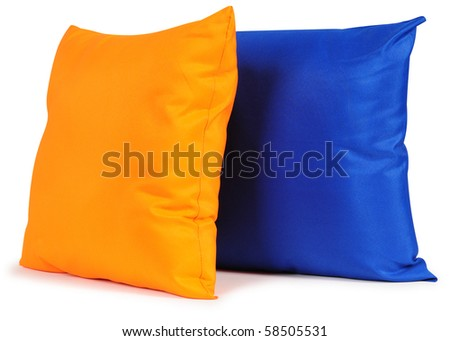 Cushions. Isolated - stock photo